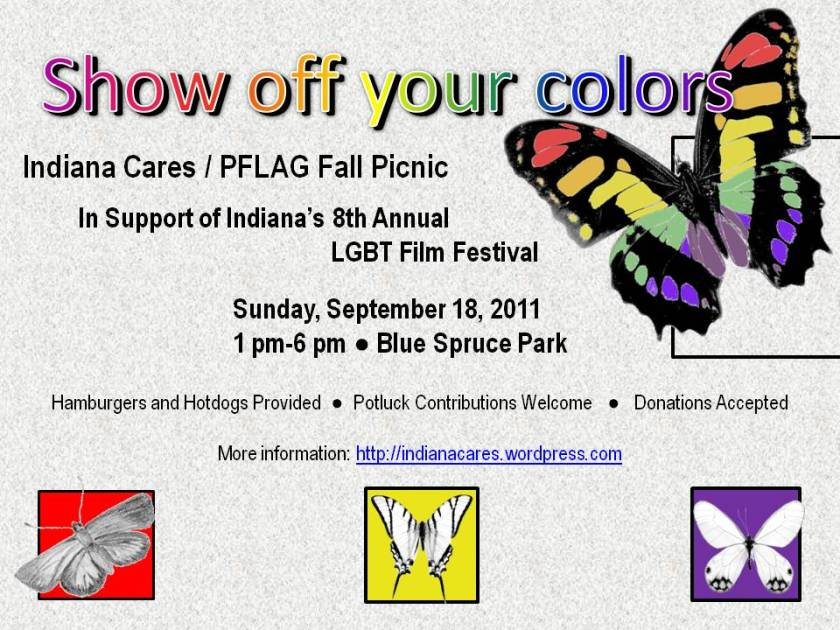 Show off your colors at the ICC/PFLAG Annual 2011 Picnic