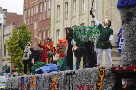IUP Homecoming Parade 2011  5th place float-Legend of Zelda