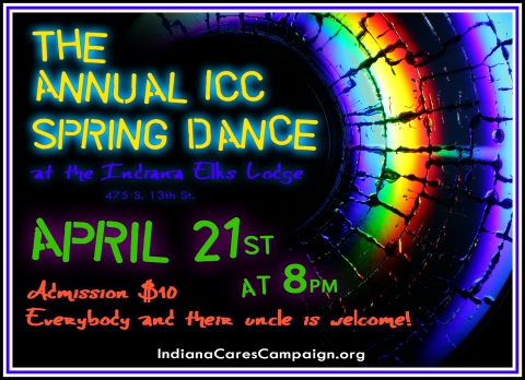 ICC 2012 Spring Dance April 21st at 8pm. Elks Lodge, Indiana, PA. Admission $10